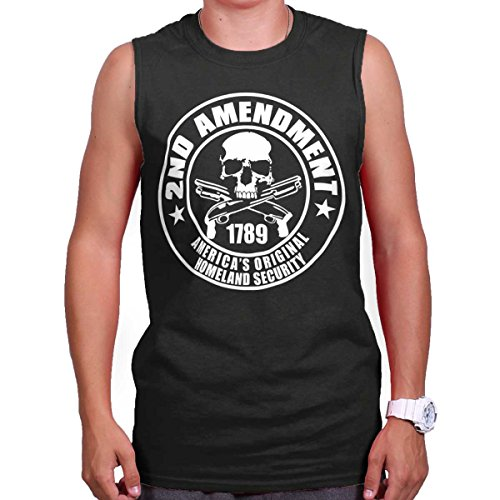 Brisco Brands 2nd Amendment Americas Homeland Security Sleeveless T Shirt