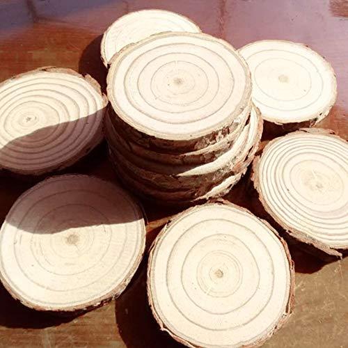 25 UNIDS 3-4 CM Rebanadas de troncos de madera DIY Artesan/ía Anillos de /árboles Decoraci/ón Naturaleza Pino Centros de mesa de boda de madera Adornos de pila fghfhfgjdfj