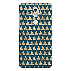 Cover It Up - Brown Navy Triangle Tile Nokia 7 Hard Case