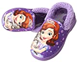Disney Sofia Clover Girl's Warm Fur Purple Comfort Indoor Slipper Shoes (Parallel Import/Generic Product) (7 M US Toddler)