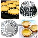 4 Sizes 20pcs Egg Tart Aluminum Cupcake Cake Cookie Mold Lined Mould Tin Baking Tool