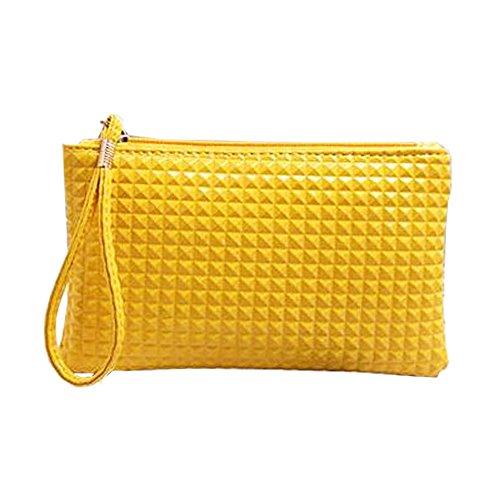 Sunyou Women's Leather Wristlet Little Check Card Cell Phone Handbag