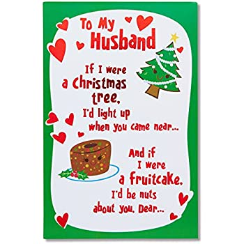Amazon dayspring religious romantic christmas greeting card for american greetings funny lucky me christmas card for husband with foil 5777182 m4hsunfo