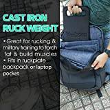 Yes4All 25 lb Ruck Weight – Cast Iron Weighted