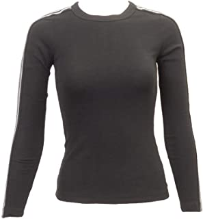 product image for Hard Tail Long Sleeve Sparkle Stripe Tee-Shirt with Striped Sleeves Style T-196
