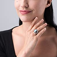 Blue Lapis Carolyn Pollack Sterling Silver Turquoise Mother of Pearl or Red Coral Gemstone Choice of 4 Colors Split Band Ring Size 5 to 10