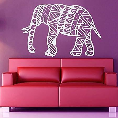 Vinyl Wall Sticker Ornament Elephant Mandala Yoga Zen Meditation ...