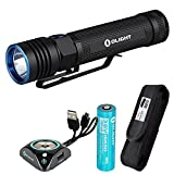 Olight S30R Baton III 1050 Lumens EDC LED Rechargeable Flashlight with Magnetic Charging Dock and LumenTac Premium Holster