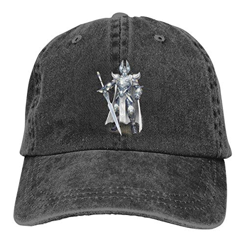 Wons Adult Might Magic Heroes Vi World of Warcraft Knight Cotton Washed Denim Leisure Caps Adjustable Black