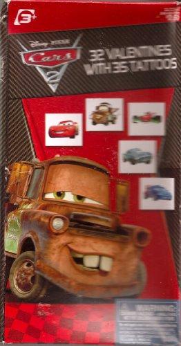 Disney PIXAR CARS 32 Valentines with 35 Tattoos]()