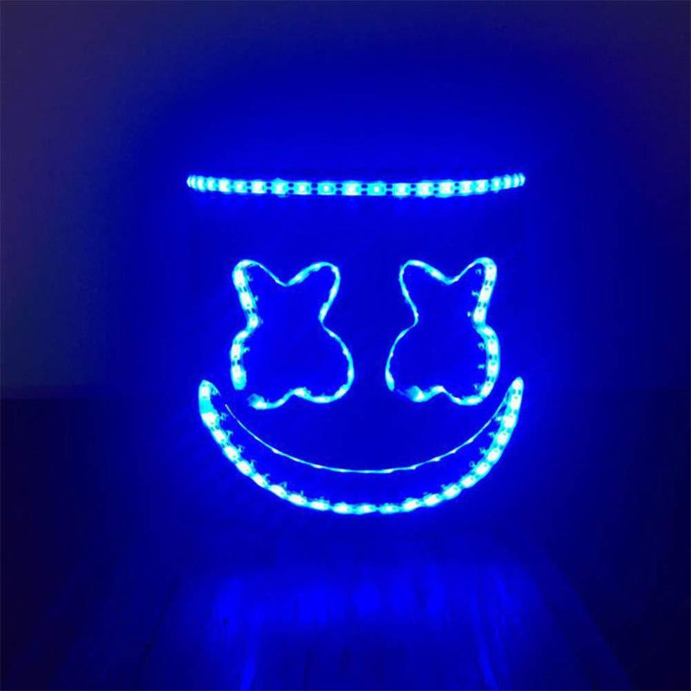Towinle LED DJ Marshmello Maske Cosplay Kostüm Helm Vollkopf Maske Party Musikfestival Leuchten Maske Halloween Karneval Weihnachten Festival Bar Maske