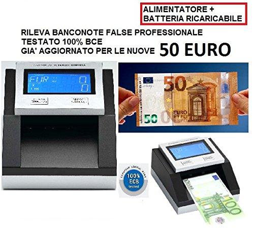 CONTA VERIFICA RILEVA BANCONOTE FALSE TESTATO 100% BCE + BATTERIA AL LITIO AGGIORNATO 50 EURO NUOVE cassadiretto.it cr331sd bat