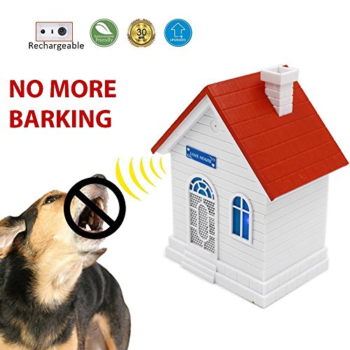 Petsonik Rechargable Ultrasonic Dog Bark Control Device | Upgraded Birdhouse Anti Bark Device | Sonic Bark Deterrent Box To Stop Dog Barking | No Battery Required by Petsonik