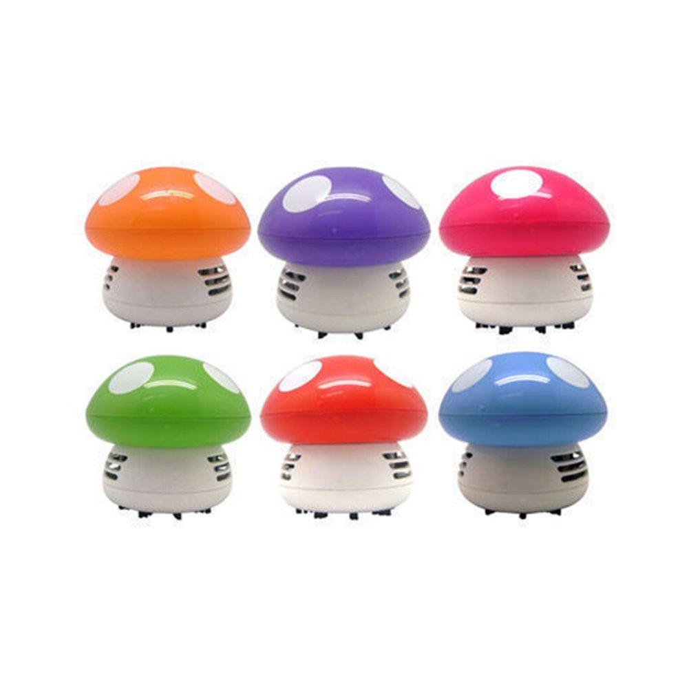 Cute Mini Mushroom Corner Desk Table Keyboard Dust Vacuum Cleaner Sweeper Gift Goodtimes28