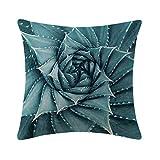Mrsrui Pillow Covers Cases Decorative Pillowcases Home Car Decorative Cotton Linen Soft and Cozy 18x18 inch (F)