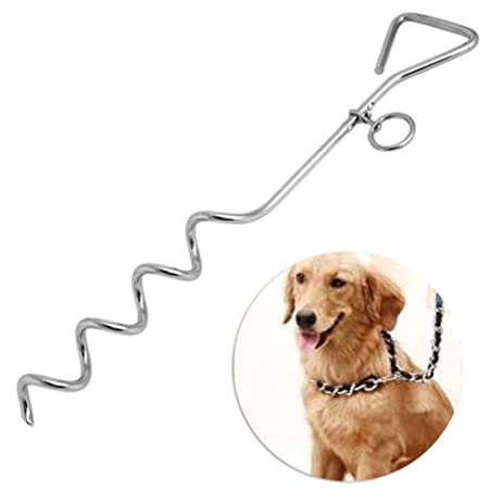 Delight eShop Steel Spiral Anchor Stake Tie Down Out with Ring For Dog or C&ing Tents  sc 1 st  Amazon.com & Amazon.com : Delight eShop Steel Spiral Anchor Stake Tie Down Out ...