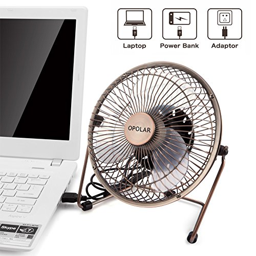 6 Inch Desk Fan : Opolar inch desktop usb fan powered personal table