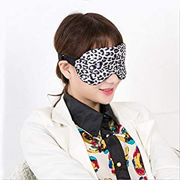 5aac41d4761 Amazon.com   SaveStore Leopard Upscale Silk Portable Travel Sleep Eye Mask  Rest Aid Cover Eye Patch Eyeshade Sleeping Mask Case Sleep Snoring   Beauty