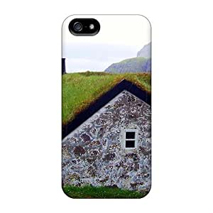 New Snap-on ConnieJCole Skin Case CoverCase For HTC One M7 Cover - Sod Roof On A House From Faroe Island