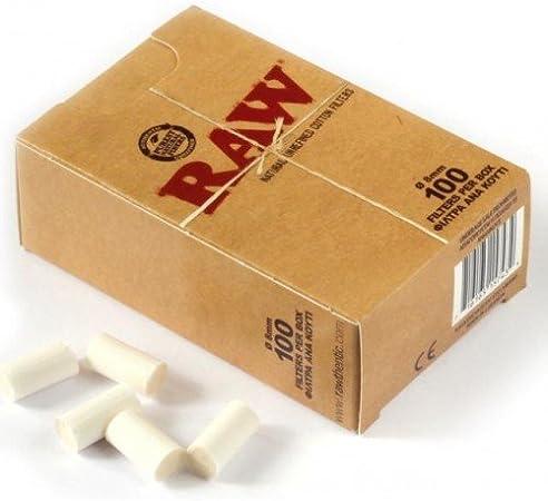 RAW refinar de filtros algodón tamaño normal 8 mm (100 filtros en ...