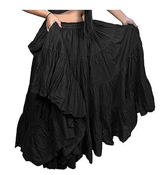 Falda para danza del vientre de algodón y 99/102 cm de largo ...