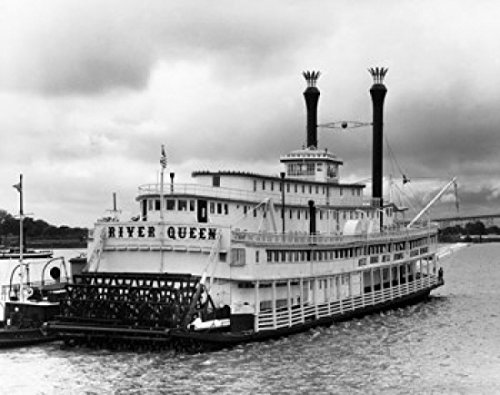 Paddleboat in a river River Queen New Orleans Louisiana USA Poster Print (24 x 36) by Posterazzi