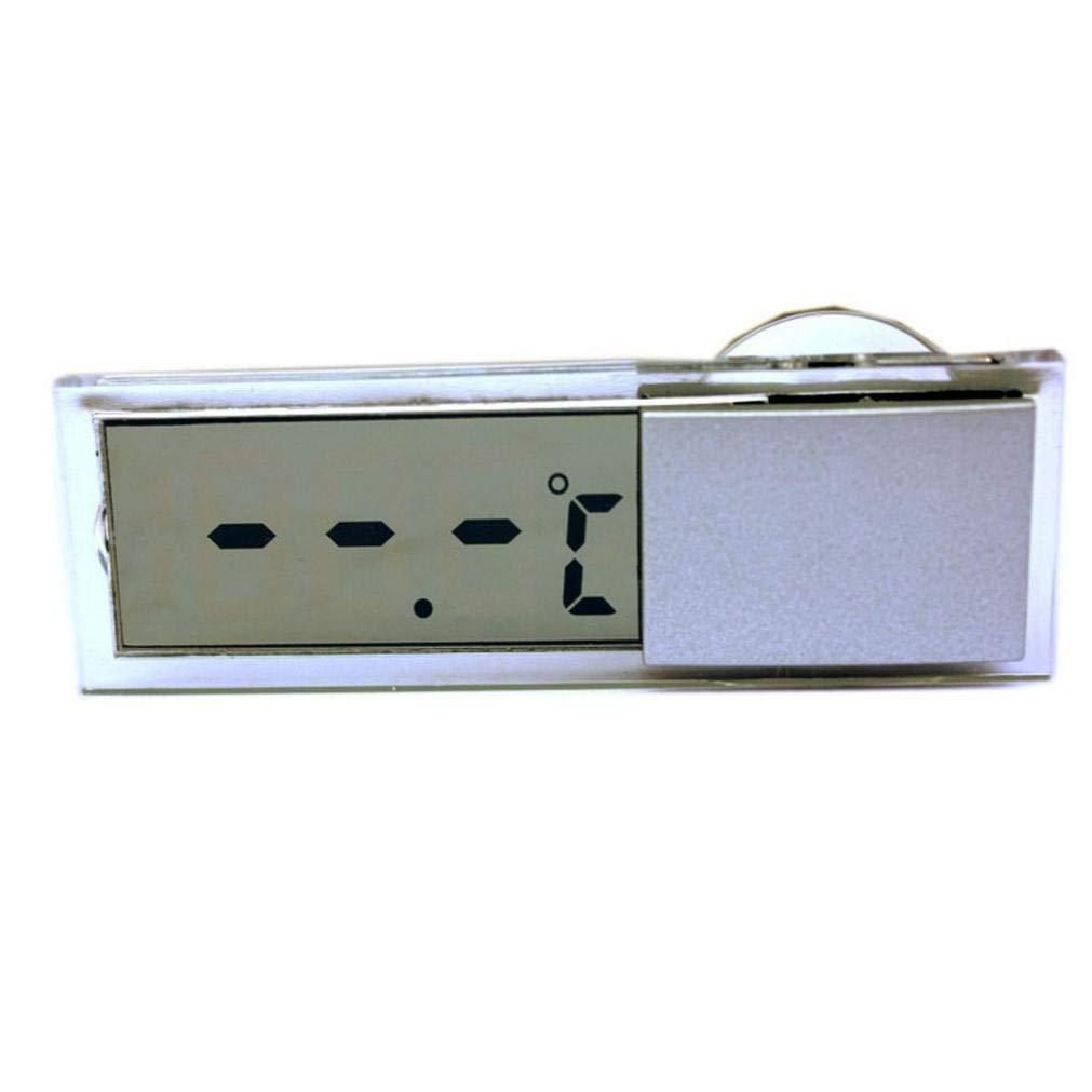 LCD mont/é sur v/éhicule Thermom/ètre fen/être num/érique sur Le Celsius fen/être Fahrenheit Haute qualit/é Voiture Horloge num/érique