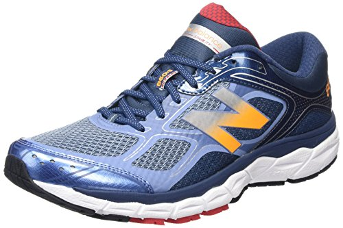 New Balance W860V6 - Zapatillas de Entrenamiento Hombre Blue/White/Orange