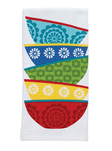 - T-fal Textiles Double Sided Print Woven Cotton Kitchen Dish Towel, 16