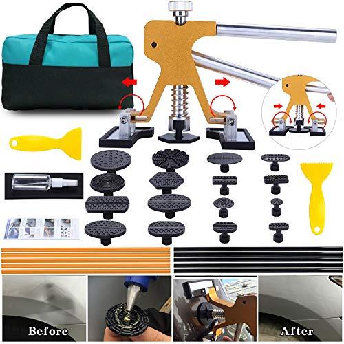 (ARISD Auto Paintless  Dent Repair Kits - Adjustable Gold Dent Lifter Dent Repair Tool  Kit,Pops a Dent puller Kit for Car Hail Damage Repair and Car Dent)