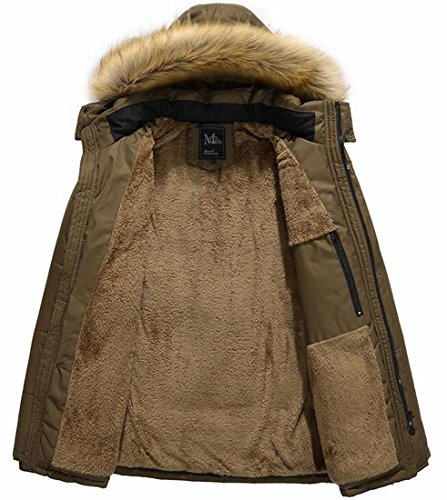 Year Men's Jacket Hooded Fly Faux Winter Qulited Cotton Fur Casual 1 Down uk AHwqwdxR