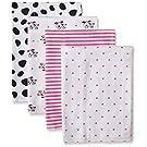 Gerber Baby Girls' 4 Pack Flannel Burp Cloths, Dalmatian, One Size