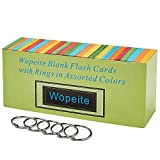 Wopeite Blank Flash Dispenser Box Cards with