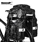 Rhinowalk Bike Bag Bike Pannier Bag Set,(for Bicycle Cargo Rack Saddle Bag Shoulder Bag Laptop Pannier Rack Bicycle Bag Professional Cycling Accessories 3 in 1)