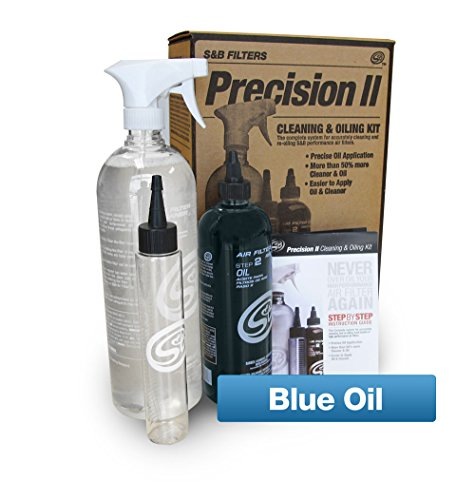 S&B Filters 88-0009 Precision II Cleaning and Oiling Kit (Blue Oil) (Parts Precision Cleaner)