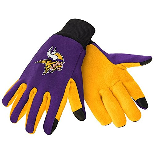 Vikings Minnesota Glove (Minnesota Vikings Color Texting Utility Glove)