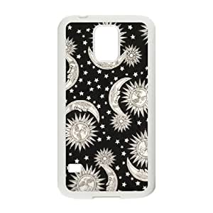 Sun Moon Pattern Customized Cover Case for SamSung Galaxy S5 I9600,custom phone case ygtg542200 by supermalls