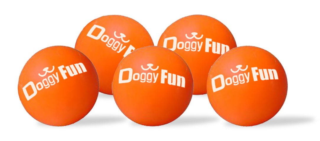 Doggy Fun 5 Ball Replacement Pack - for all Doggy Fun Automatic dog ball throwers