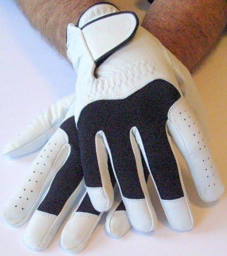 Unbekannt 1 par de guantes para futbolín Goal piel hombre S M L XL XXL RE & Ion de piel, blanco y negro: Amazon.es: Deportes y aire libre