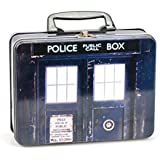 Doctor Who Lunch Box - TARDIS Tin Tote with Dr Who Top Trumps Collectors Cards