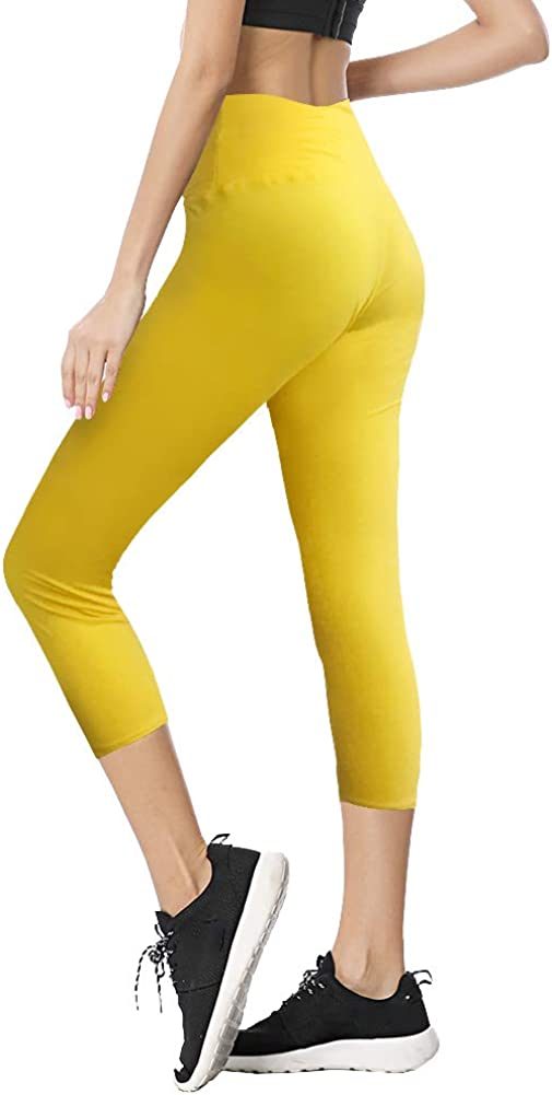 Buttery Soft Pattern Capri Pants for Daily Workout Party Regular /& Plus TNNZEET High Waisted Printed Leggings for Women