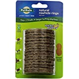 PetSafe Busy Buddy Refill Ring Dog Treats for select Busy Buddy Dog Toys, Peanut Butter Flavored Natural Rawhide, Size C - BB-RING-PB-C