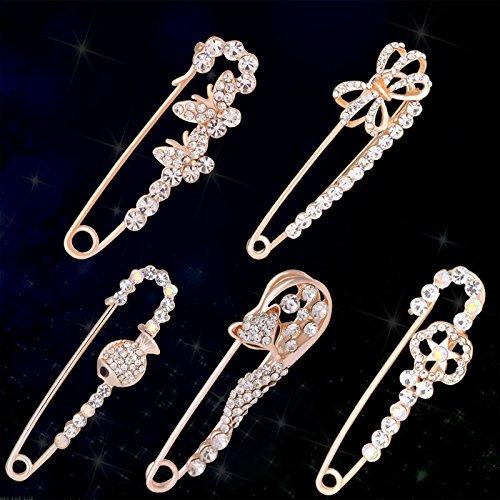 Ms wild accessories cartoon clip brooch shirt Do not pin Korean children high-grade silk collar collar pin