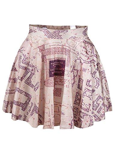 Harry Potter Marauders Map Stretchy Mini Skirt