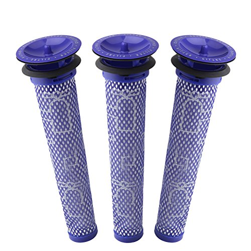 3 Pack Pre Filters for Dyson DC58, DC59, V6, V7, V8. Replacements Part # 965661-01. 3 Filters by Wolf Filter