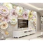 LIWALLPAPER-Carta-Da-Parati-3D-Fotomurali-Farfalla-Fiore-Perla-Camera-da-Letto-Decorazione-da-Muro-XXL-Poster-Design-Carta-per-pareti-200cmx140cm