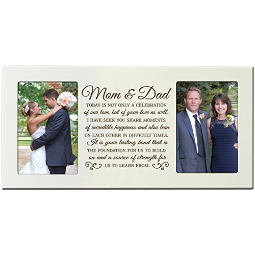 LifeSong Milestones Parent Wedding Gift Picture Frame, Thank You Gift, Mom and Dad 16