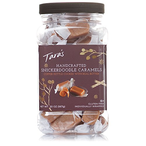 Tara's All Natural Handcrafted Gourmet Snickerdoodle Caramel: Small Batch, Kettle Cooked, Creamy & Individually Wrapped - 20 Ounce (Caramel Candy Salted)