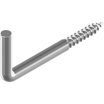 50 St/ück Hakenschrauben 3,5x 40 mm Edelstahl A2