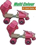 Sufi World Roller Skates for Kids Age Group 5-12 Years Adjustable Inline Skating Shoes (Pink , Yellow, Green)